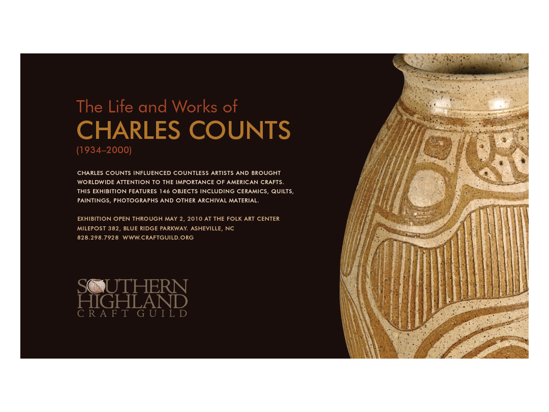 Promo for Charles Counts at the Folk Art Center