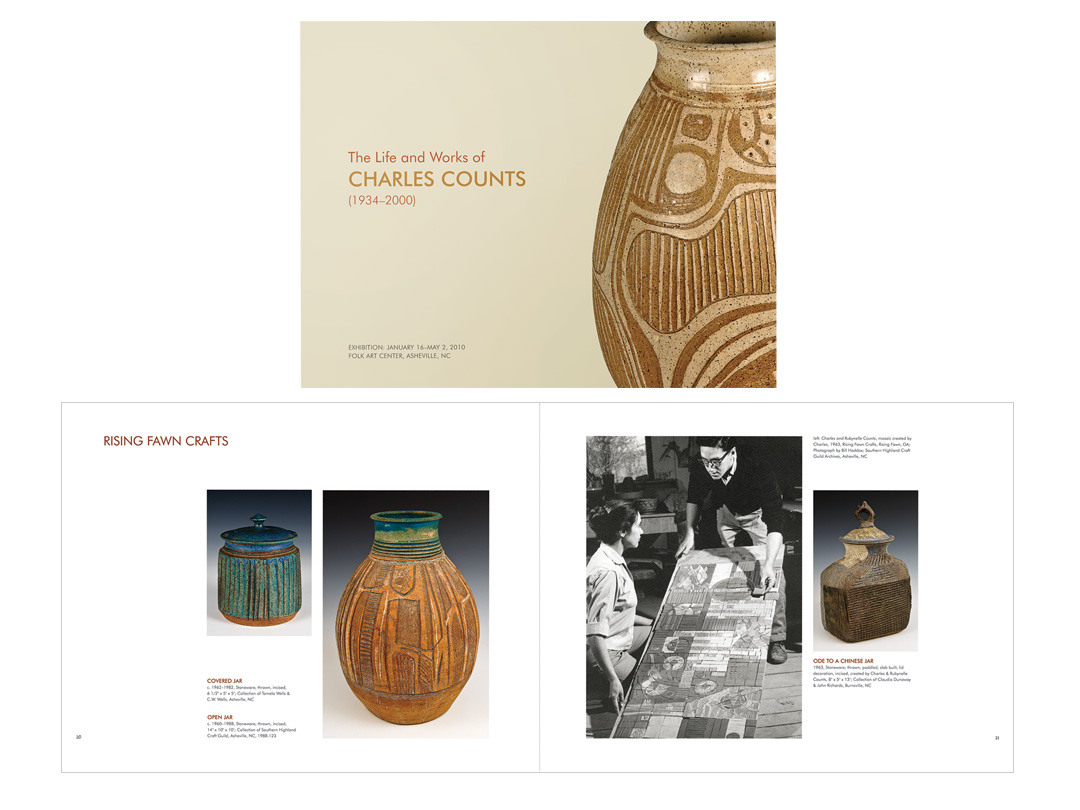 Exhibit catalog for Charles Counts at the Folk Art Center