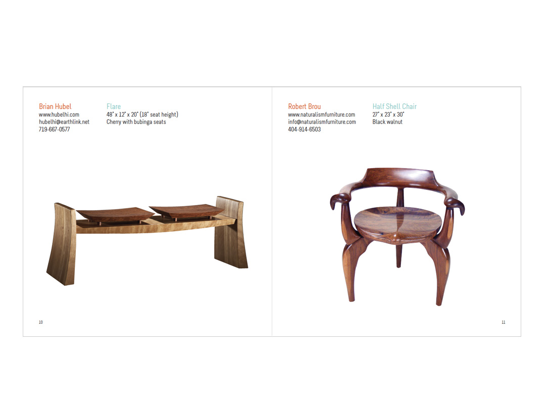 Exhibit catalog for Furniture Society at ICFF conference