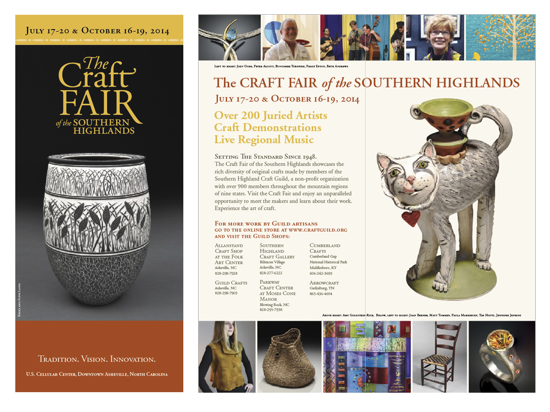 Brochure for annual Craft Fair of the Southern Highlands