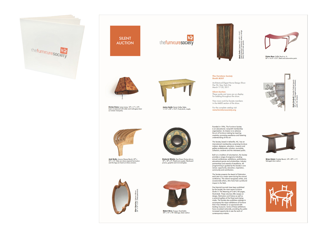 Exhibit catalog for Furniture Society conference auction