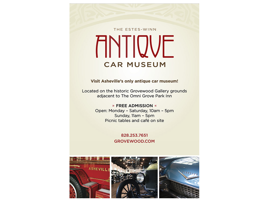 poster for Antique Car Museum in tourism locations