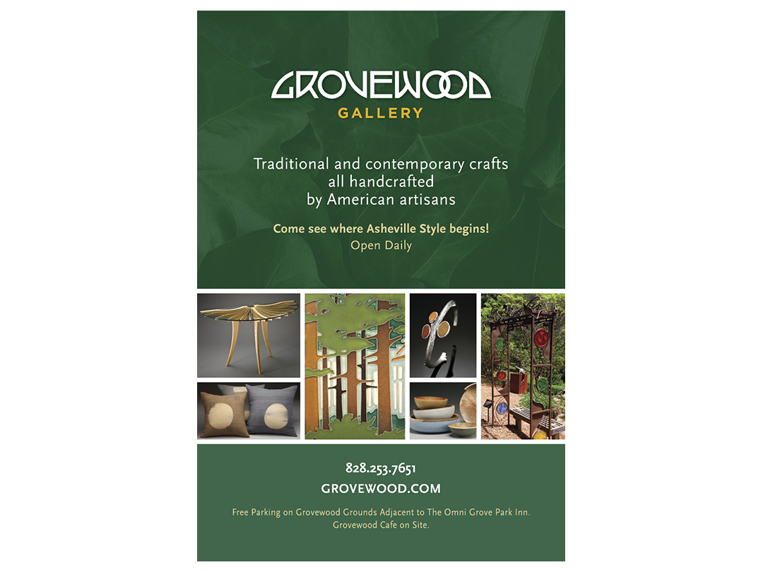 Poster for Grovewood Gallery in tourism locations
