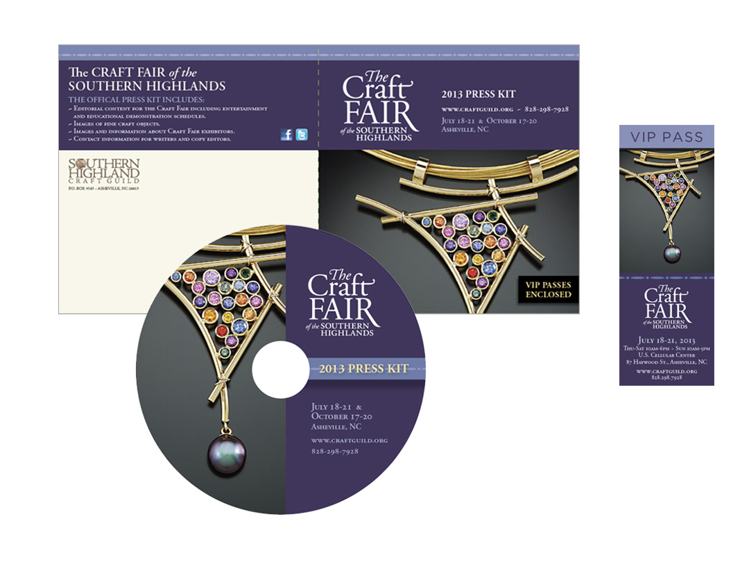 Media kit for the Craft Fair of the Southern Highlands