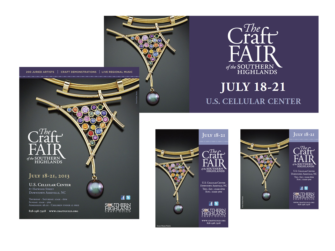 Woster & ads for the Craft Fair of the Southern Highlands