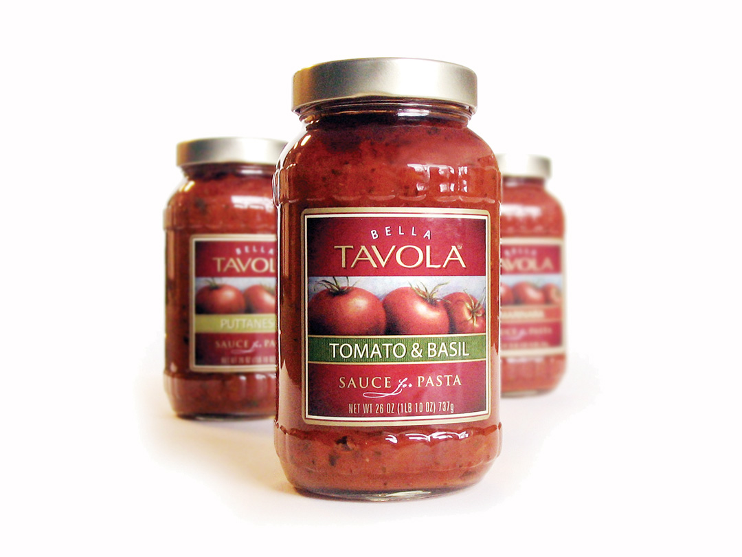 Packaging for Bella Tavola pasta sauces