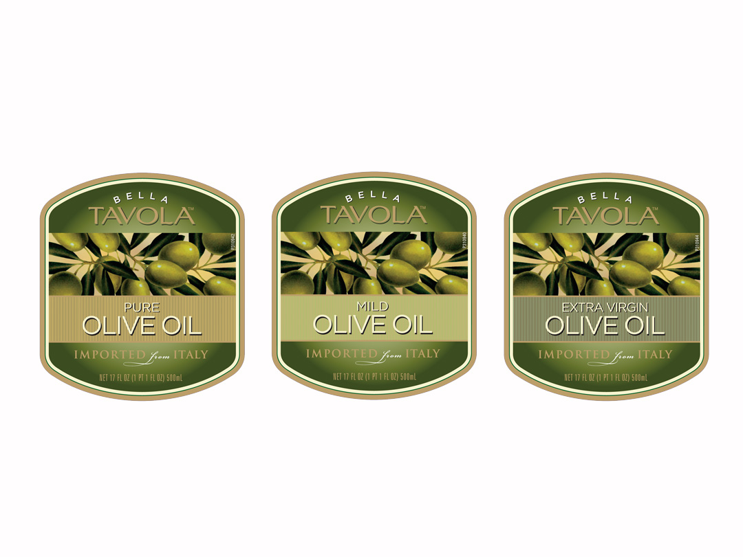 Packaging for Bella Tavola Olive Oil