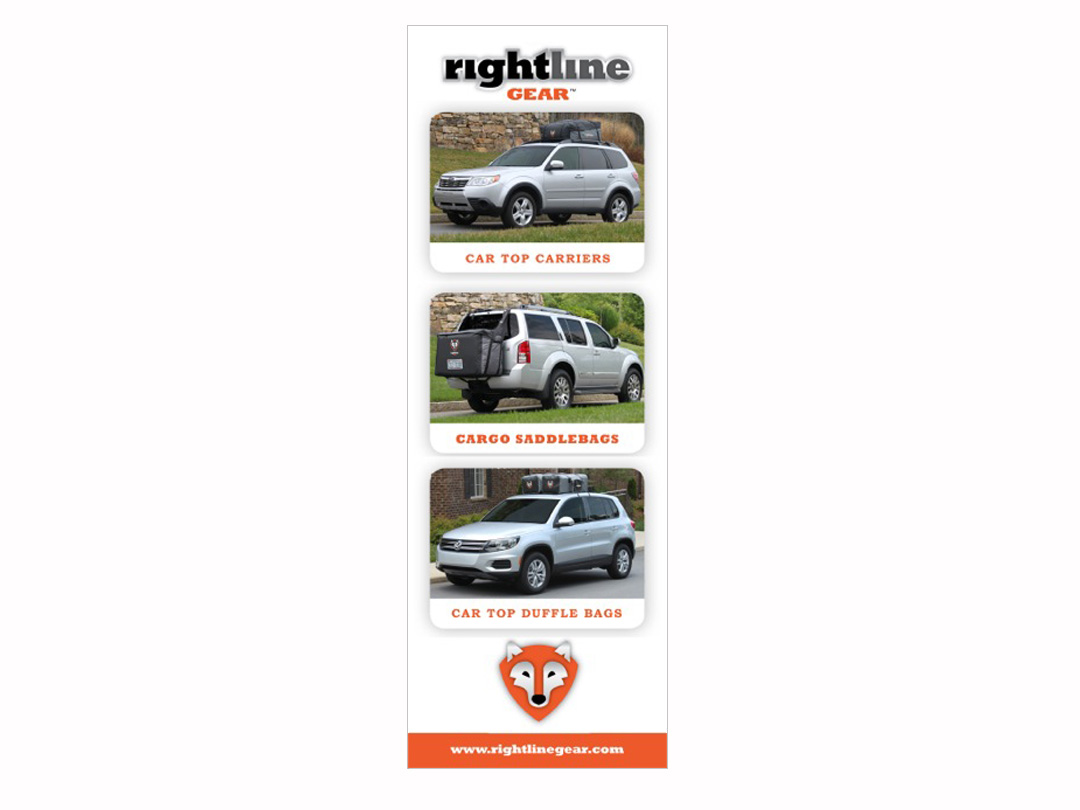 Trade show banner for Rightline Gear