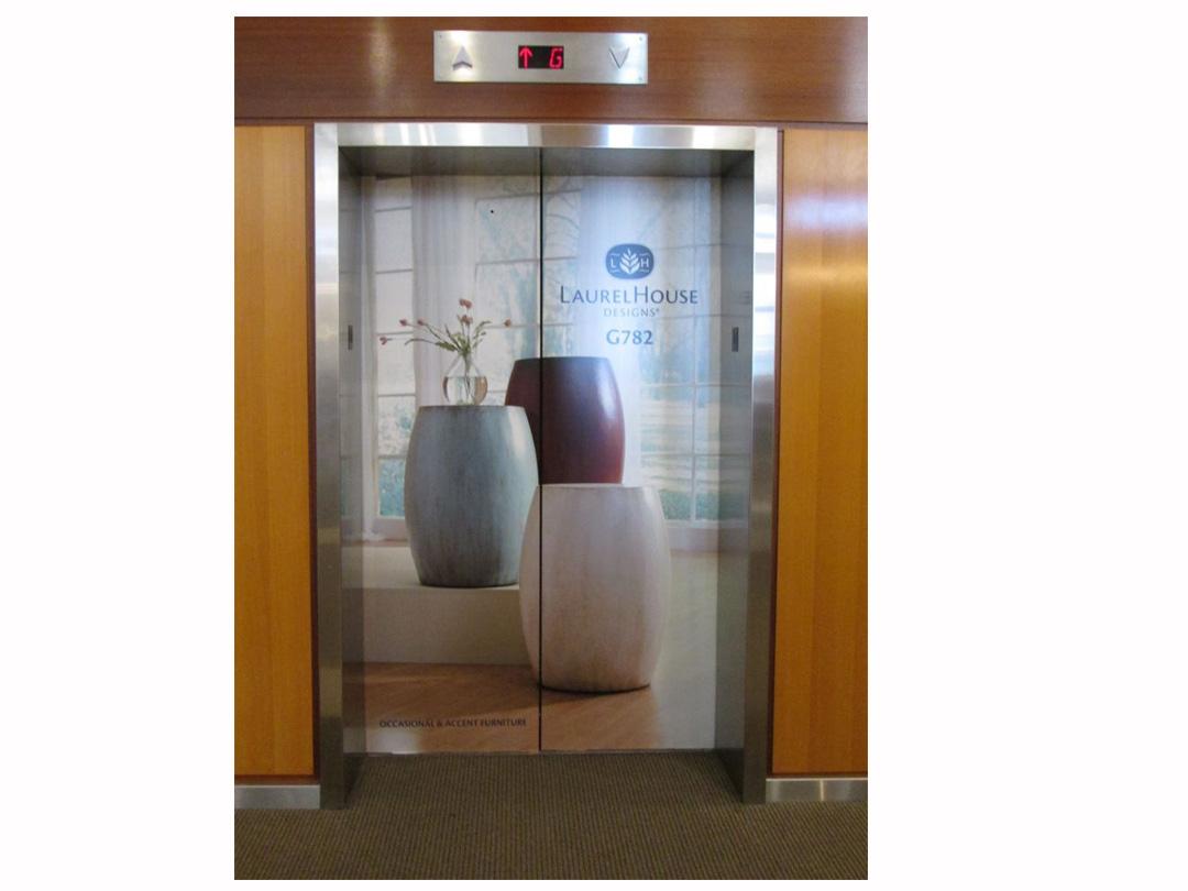 Trade show elevator ad for LaurelHouse Designs