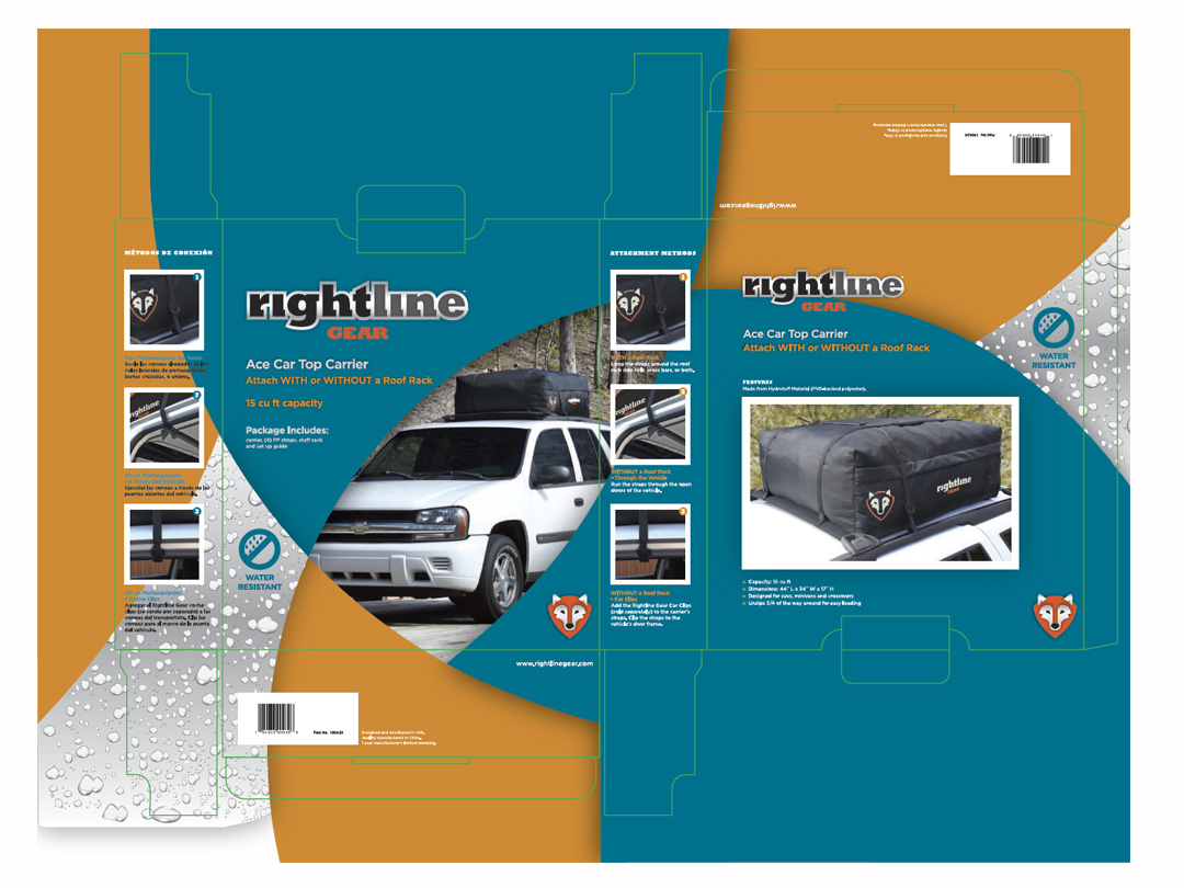 Packaging for Rightline Gear outdoor products