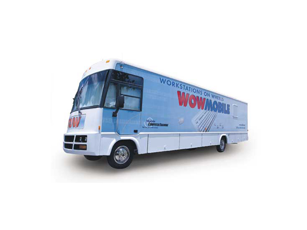 bus wrap for WOWmobile tech stations