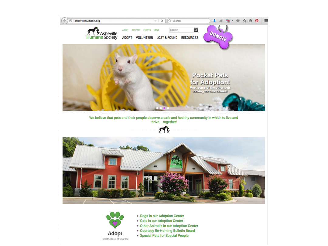 Asheville Humane Society website